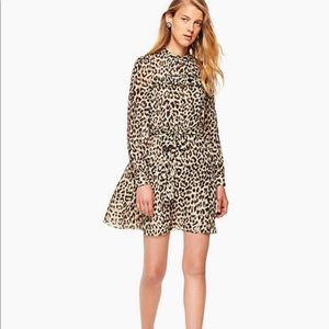 Kate Spade Leopard Print Dot Mini Dress sz-4